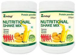 Zindagi Nutiritional Shake Mix With Mango Flavour Protein Powder Family Nutrition Health Supplement 400g (Pack Of 2)