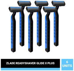 Zlade Glide II Plus Readyshaver Twin Blade Disposable Shaving Razor for Men -(Pack of 6)