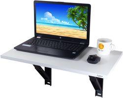 Captiver Minielara Folding Wall Mounted Shelf Study Cum Laptop Table White