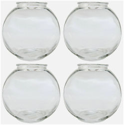 Clear Transparent Round Glass Fish Pot For Joom View Of Table Top
