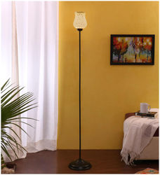 Devansh Mosaic Glass Floor Standing Lamp