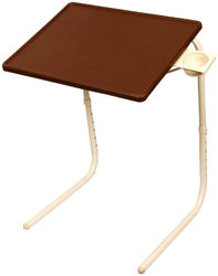 Frazzer Multi Function Detachable And Foldable Table Mate with Cup Holder in New Chocolate Color