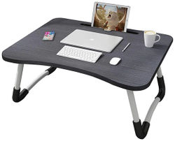 G GAPFILL Multi-Purpose Laptop Table with Cup Stand Study Table Bed Table Foldable and Portable Non-Slip Legs Engineered Wood