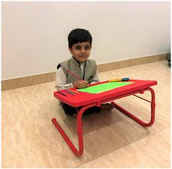 Gadget-Wagon Iron Multipurpose Foldable Table for Laptop Drawing Study Homework Painting Crafts Reading 50x35cm (Red)