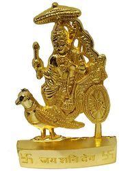 Hindu God Shani Dev Idol Shani Dev Metal Murti Statue for Pooja Temple