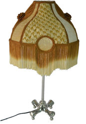 Nikita Lighting Aluminium Lamp With Butter Gold Vivien Lampshade