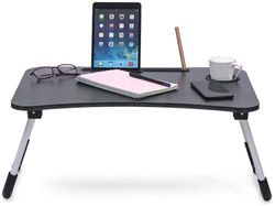 Noymi Multipurpose Foldable Laptop Table With Cup Holder Drawer Study Table Foldable And Portable Ergonomic Rounded Edges Non-Slip Legs