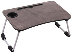 SETIST Foldable Laptop Table with Cup Holder Charging Cable IPad Tablet Slot