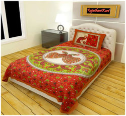 Kohinoor Cotton Printed Single Size Bedsheet 120 TC ( 1 Bedsheet With 1 Pillow Covers Multi )