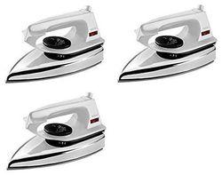 Usha EI 2802 1000-Watt Ultra Lightweight Dry Iron (White) pack of 3