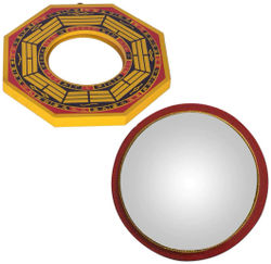 Vyne Combo Of (2) Mirrors 6 inch Pa KUA Mirrors 6 inch Convex Mirror 12 inch