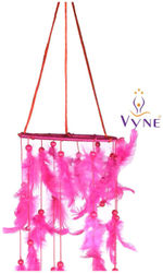 Vyne pink chandelier dream catcher attracts positive dreams