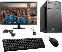 Gandiva Desktop Computer H55 Board Intel Core i3-3rd Gen 4 GB RAM 500 GB HDD Windows 10 18 5 inch Monitor WiFi Pre Installed Windows 10 MS Office(Trail Version) Antivirus(Free Version)