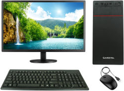 Gandiva Economical C2D Desktop Computer Intel Pentium(Core2Duo CPU 4 GB DDR3 RAM 500 GB HDD 18 5 Monitor WiFi)Windows 7 MS Office(Trial Version) Antivirus(Free Version)(GANDIVAC2D450018 5WIFI-F)