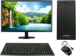 Gandiva Economical C2D Desktop Computer(Core2Duo CPU 4GB DDR3 RAM 500GB HDD 18 5 inch Monitor WiFi)Windows 10 MS Office(Trial Version) Antivirus(Free Version)