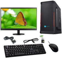 Gandiva Economical C2D Desktop Computer G31 Motherboard Intel Core 2 Duo-3rd Gen 4 GB RAM 240 GB SSD Windows 7 18 5 inch Monitor WiFi Windows MS Office(Trial Version) Antivirus(Free Version)