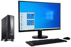 RDP Desk PC CML1071DA - Intel Core-i7 10th Gen Processor - 8GB RAM - 1TB HDD - Free DOS - 21 5 inch Full HD LED Monitor (Black)