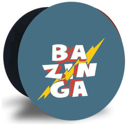 Emble Designer Pop Socket Bazinga Case