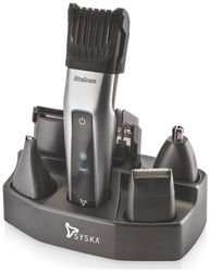 Syska Ht3052k Hair clipper For Men ( Black Silver )