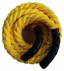 Battle Rope 32mm Thickness Exercise Fitness Training Equipment Rope (Yellow) (5m - 32mm)