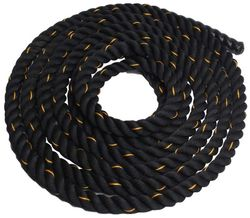 Battle Rope 38mm Thickness Exercise Fitness Training Equipment Rope (5m - 38mm Black)