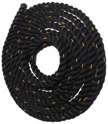 Battle Rope 38mm Thickness Exercise Fitness Training Equipment Rope 30m - 38mm Black