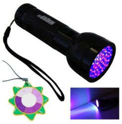 HQRP Portable Ultra Violet Black Light Torch Light Fake Money Detector UV Meter