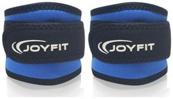 JoyFit - Ankle Straps with Pad and Ring for Cable Machine Gym Legs Butt Glute Exercises for Men and Women (Blue)