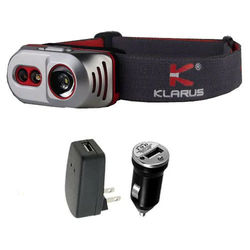 Klarus H1A Rechargeable Headlamp -550 Lumens -Battery Included w USB Adaptors