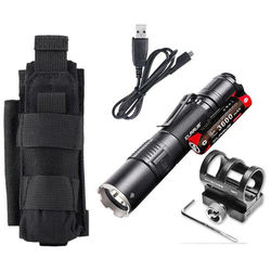 Klarus XT2CR Rechargeable Flashlight w Battery GM02 Gun Mount Tactical Holster