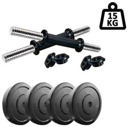 Muskular 15 kg PVC Dumbells Sets PVC Plates Dumbells Rods