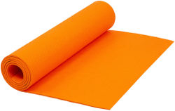 Narains Packaging(Orange) Yoga Mat 6mm Thick and Non-Slippery Washable