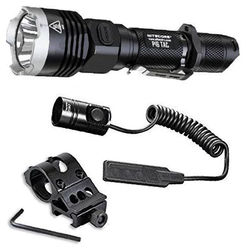 Nitecore P16 Tac 1000 Lumens Flashlight w Offset Gun Mount RSW1 Presure Switch