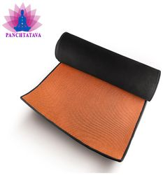 Panchtatava SGS Certified Yoga Mat with Belt Carrying Bag Thick Orange Base WithBlack Border-(Acupressure 4mm Exercise Mat)