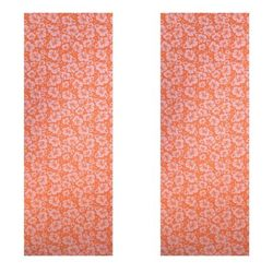 Vritraz Printed Extra Thick 6mm 182 88 cm (72 inch)x60 96 cm (24 inch) Long Premium Eco Safe Non Slip Yoga Mat With Free Carry Bag OrangeFlower-OrangeFlower (Pack of 2)