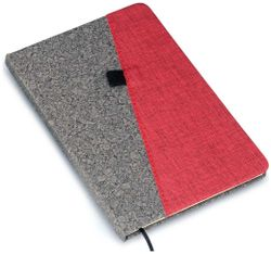 notebook in A5 size with Gray PU