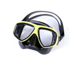 Adore Diving Goggles Anti-Fog Coated Glass Myopic Optical Lens Adult Diving Mask Glasses Suitable For Scuba Diving-Fluorescent Yellow