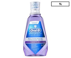 Oral-B Pro-Health Clinical Clean Alcohol-Free Fluoride Rinse Mint 1L