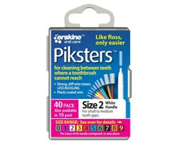 Piksters Tooth Cleaner Size 2 (White) - 40 Pack