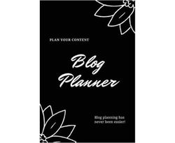 Blog Planner: Bloggers Design, Plan, & Create Using Content Strategy Planning, Creating Social Media Post, Blogger Gift, Journal