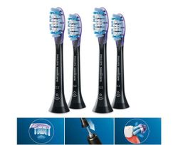 4PC Philips HX9052/67 G3 Gum Care Replacement Head for Electric Toothbrush Black