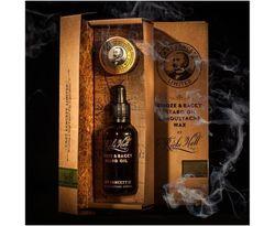 Capt FawcettS Ricki Hall Booze & Baccy Beard Oil & Moustache Wax Gift Set