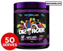 Faction Labs Disorder Pre-Workout Powder Red Russian (Raspberry) 50 Serves