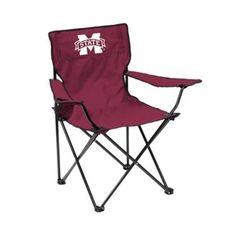 Logo Red NCAA Mississippi State Bulldogs Quad Chair