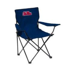 Logo Blue NCAA Ole Miss Rebels Quad Chair