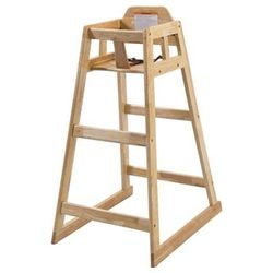 """Winco CHH-601 32"""" Stackable High Chair - Rubberwood, Natural"""