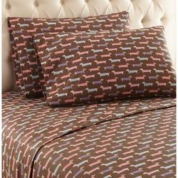 Micro Flannel Print Sheet Set by Shavel Home Products in Flannel (Size QUEEN)