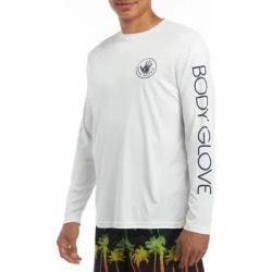 Body Glove White Long Sleeve Rash Guard