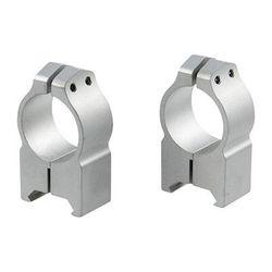 "Warne Mfg. Company Maxima Fixed Rings - 1"" High (1.025"") Fixed Rings, Silver"