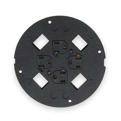 HUBBELL WIRING DEVICE-KELLEMS S1SP4X4 Floor Sub-Plate,SystemOne
